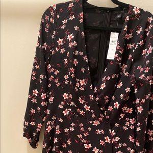 Ann Taylor Black Floral Dress